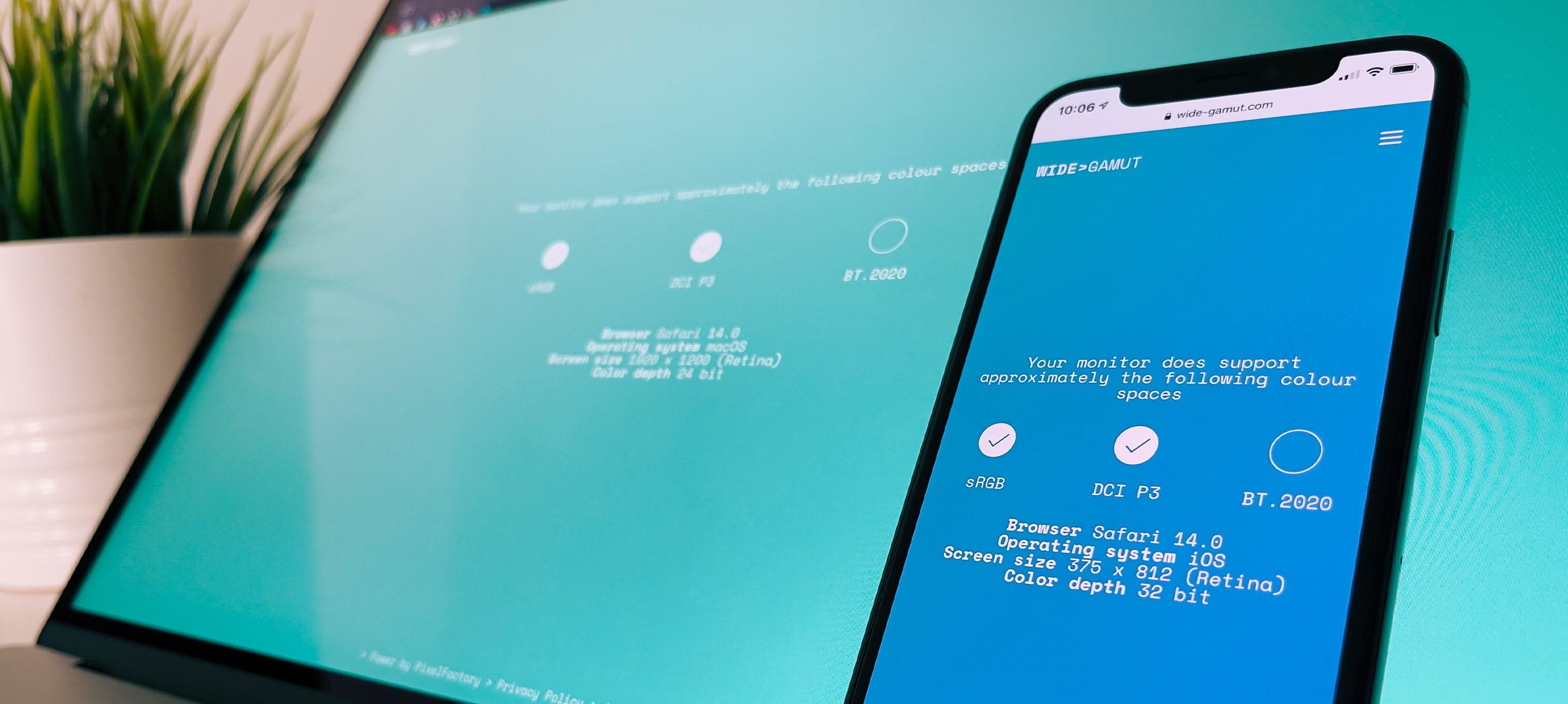 sRGB e web: il nuovo standard esiste già e si chiama Display P3